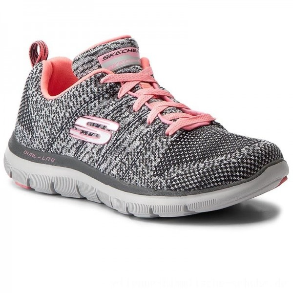 Skechers Schuhe High Energy 12756/CCCL Charcoal/Coral [Outlet]