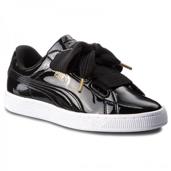 Puma Sneakers Basket Heart Patent 363073 01 Black/Puma Black [Outlet]