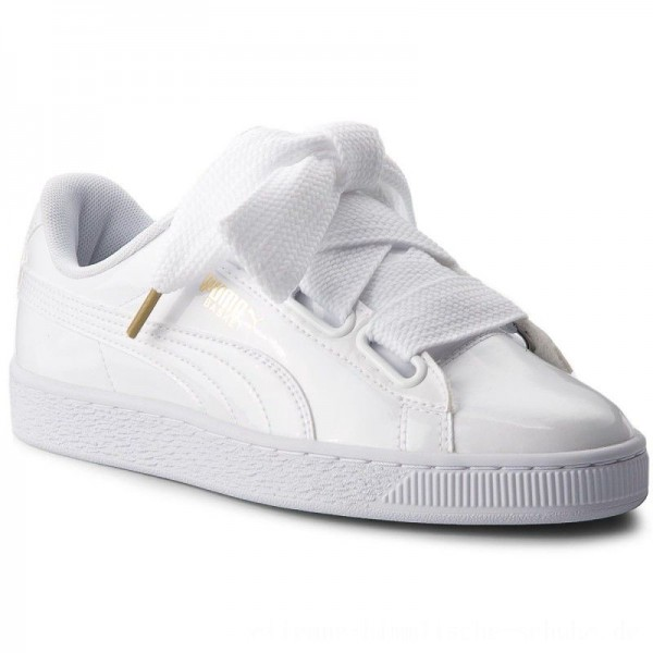 Puma Sneakers Basket Heart Patent 363073 02 White/Puma White [Outlet]