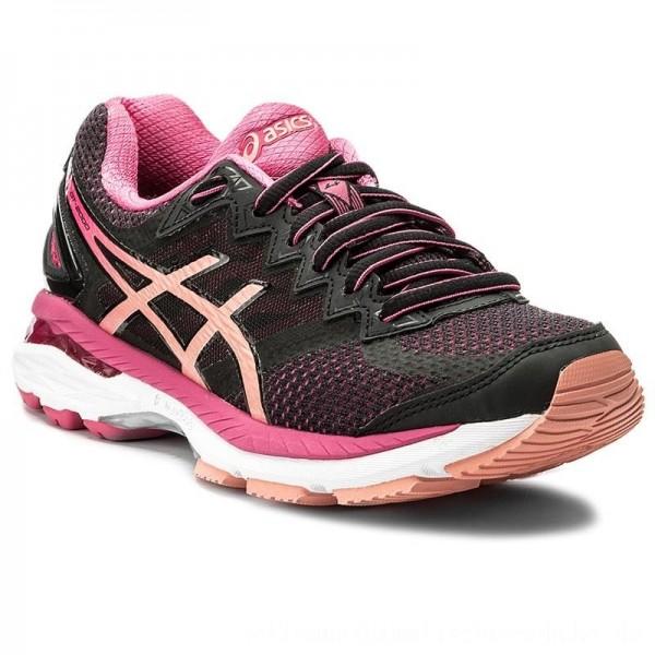 Asics Schuhe Gt-2000 4 T659N Black/Peach Melba/Sport Pink 9076 [Sale]