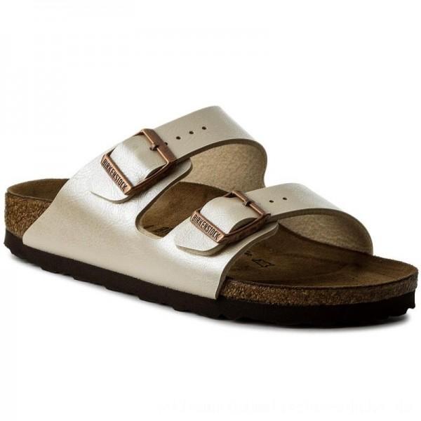 Birkenstock Pantoletten Arizona Bs 1009921 Graceful Pearl White [Outlet]
