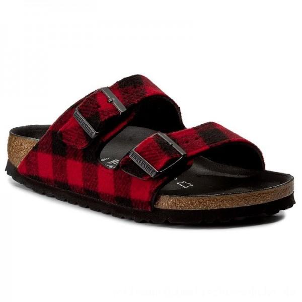 Birkenstock Pantoletten Arizona 1001210 Check Red/Black [Sale]
