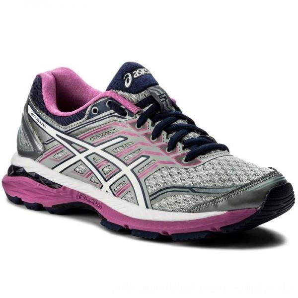 Asics Schuhe Gt-2000 5 (2A) T760N Midgrey/White/Pink Glow 9601