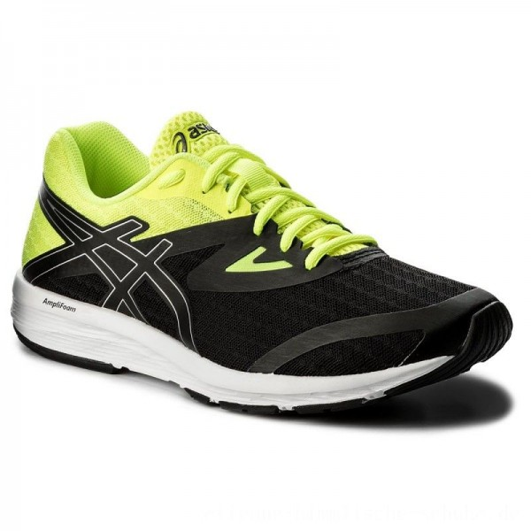 Asics Schuhe Amplica T825N Black/Silver/Safety Yellow 9093 [Outlet]