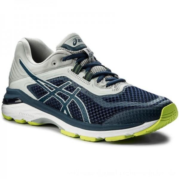 Asics Schuhe Gt-2000 6 T805N Dark Blue/Mid Grey 4949 [Outlet]