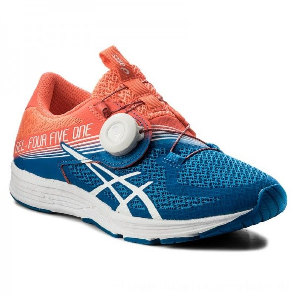 Asics Schuhe Gel-451 T874N Flash Coral/White/Directoire Blue 0601 [Outlet]