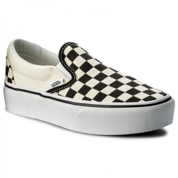 Vans Turnschuhe Classic Slip-On P VN00018EBWW Blk&Whtchckerboard/Wht [Outlet]