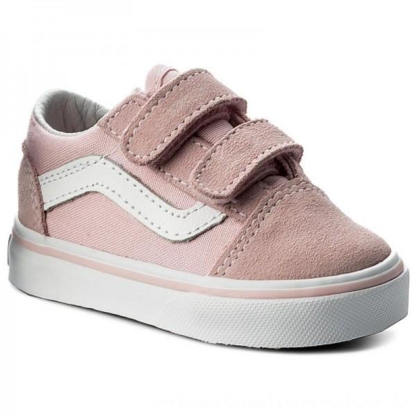 Vans Turnschuhe Old Skool V VN0A344KQ7K (Suede/Canvas) Chalk Pink [Sale]
