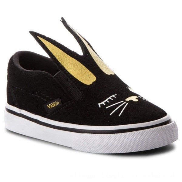 Vans Turnschuhe Slip-On Bunny VN0A3MTZZX1 Black/Gold [Outlet]