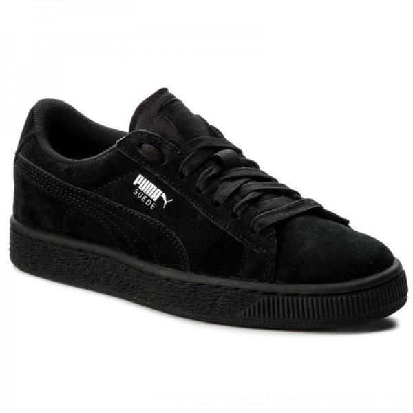 Puma Sneakers Suede Jr 355110 52 Black/Puma Silver [Sale]
