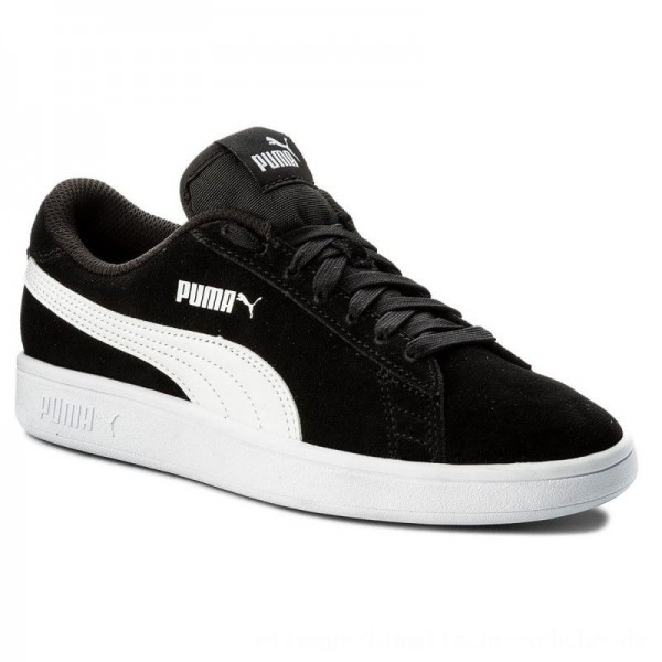 Puma Sneakers Smash v2 Sd Jr 365176 01 Black/Puma White [Sale]