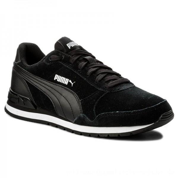 Puma Sneakers St Runner v2 Sd 365279 01 Black/Puma Black [Outlet]