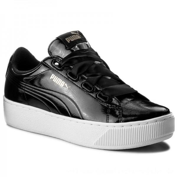 Puma Sneakers Vikky Platform Ribbon P 366419 01 Black/Puma Black [Sale]