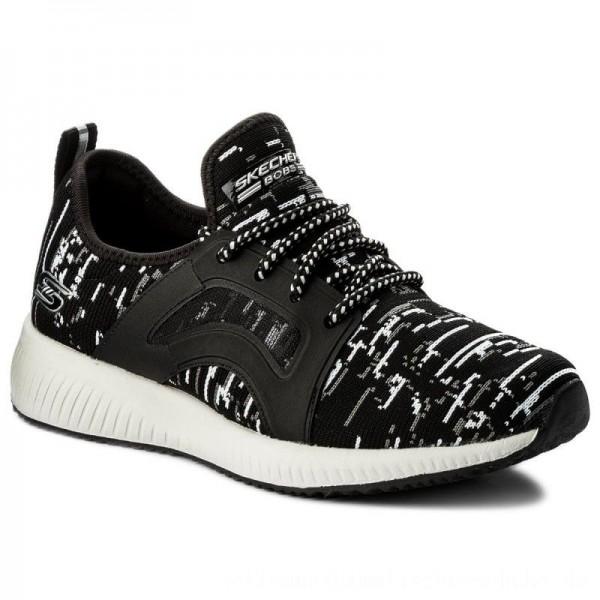 Skechers Schuhe BOBS SPORT Double Dare 31363/BKW Black/White