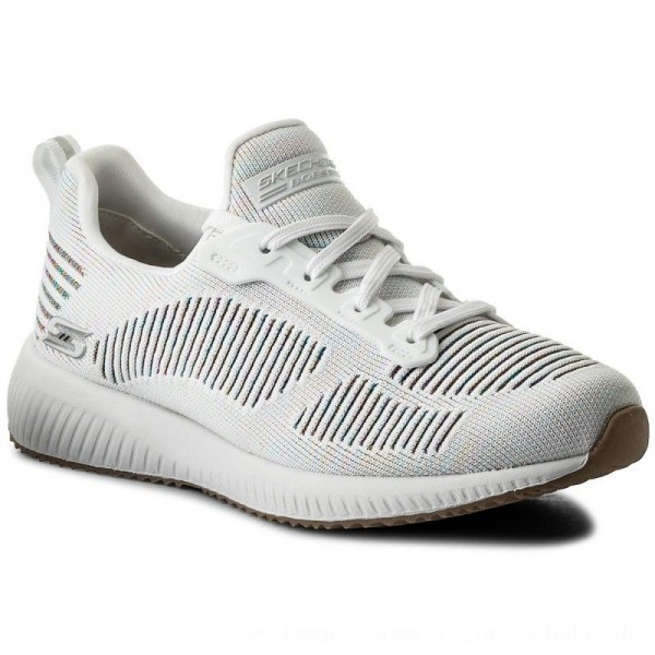 Skechers Schuhe BOBS SPORT Multifaceted 31366/WMLT White/Multi [Outlet]