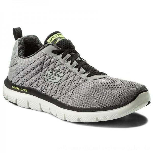 Skechers Schuhe The Happs 52185/LGBK Light Gray/Blk [Outlet]