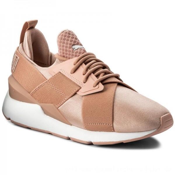 Puma Sneakers Muse Satin Ep 365534 01 Peach Beige/Puma White [Sale]