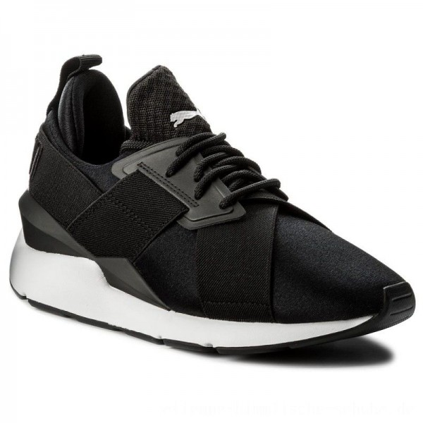 Puma Sneakers Muse Satin EP 365534 03 Black/Puma White [Outlet]