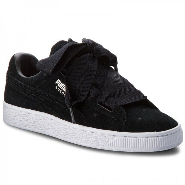 Puma Sneakers Suede Heart Valentine Jr 365135 02 Black/Puma Black [Outlet]