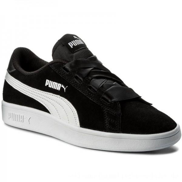 Puma Sneakers Smash V2 Ribbon Jr 366003 01 Black/Puma White [Outlet]