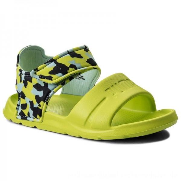 Puma Sandalen Wild Sandal Injex Camo PS 365081 01 Peacoat/Limepunch [Sale]