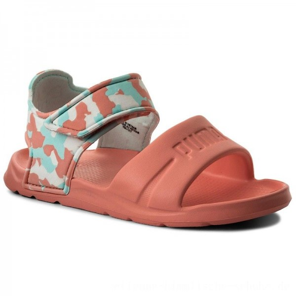 Puma Sandalen Wild Sandal Injex Camo PS 365081 03 Soft Fluo Peach/Puma White [Sale]