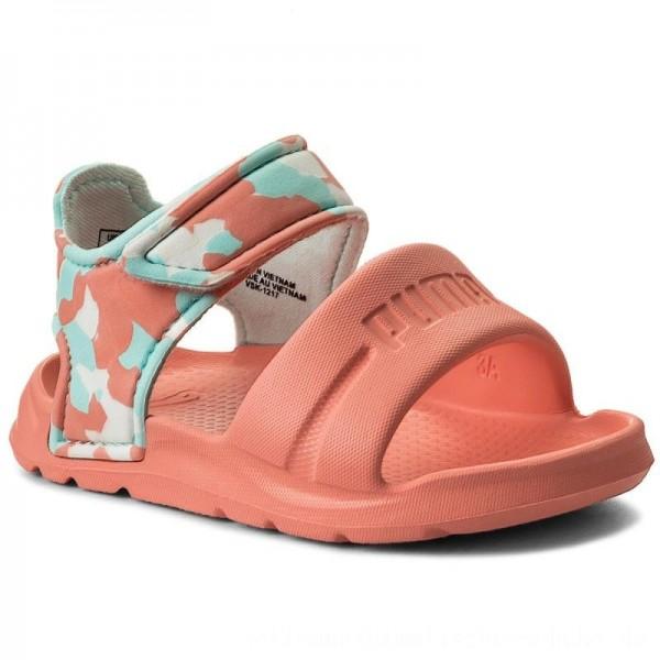 Puma Sandalen Wild Sandal Injex Camo Inf 365082 03 Soft Fluo Peach/Puma White [Sale]