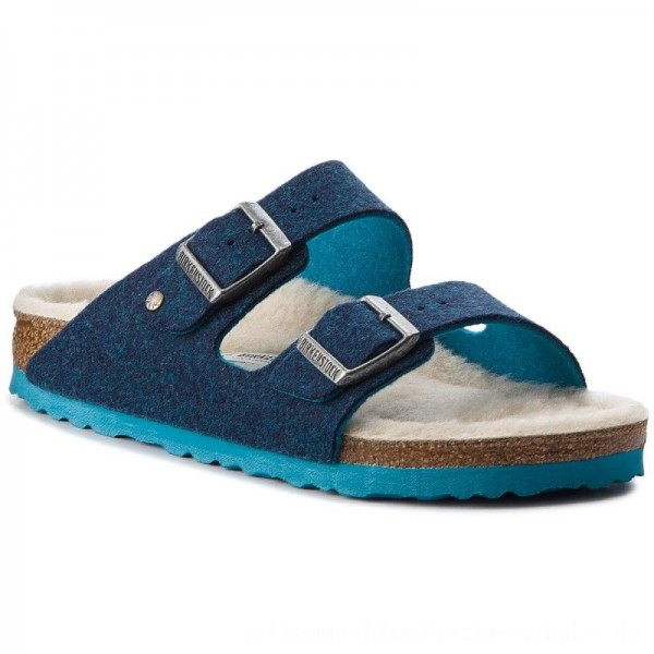 Birkenstock Hausschuhe Arizona Rivet 1012430 Double Blue [Outlet]