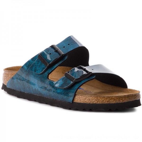 Birkenstock Pantoletten Arizona Bs 1011137 Strong Blue [Outlet]