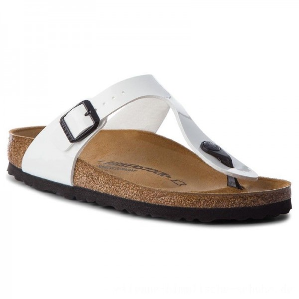 Birkenstock Zehentrenner Arizona Bs 0543763 Patent White [Outlet]