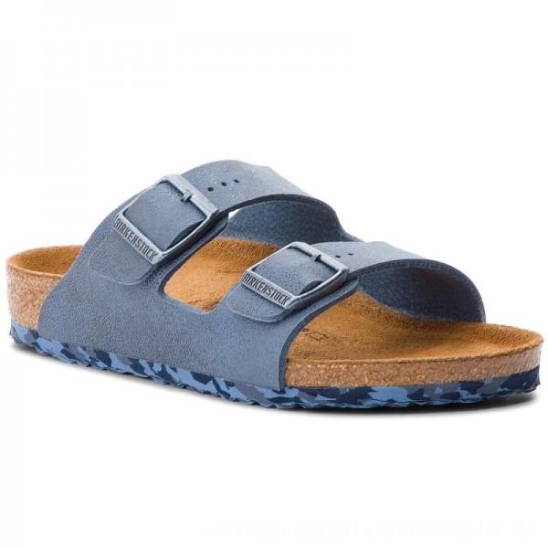 Birkenstock Pantoletten Arizona Kids 1008323 Sandwashed Blue [Outlet]