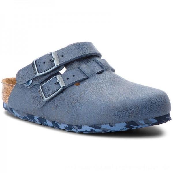 Birkenstock Pantoletten Arizona Kids 1008341 Sandwashed Blue [Outlet]