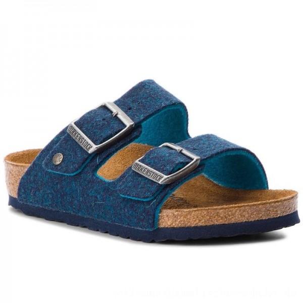 Birkenstock Pantoletten Arizona Rivet Kids 1010435 Blue [Sale]