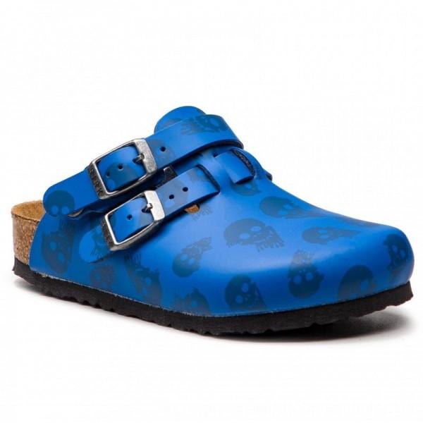 Birkenstock Pantoletten Kay Kids 1010465 M Mystic Skulls Royal Blue [Sale]