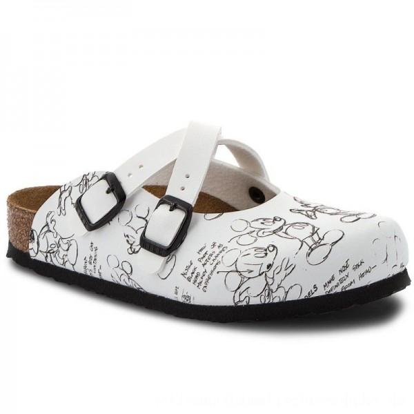 Birkenstock Pantoletten Dorian Kids 1010478 Mickey Heritage Black/White [Outlet]