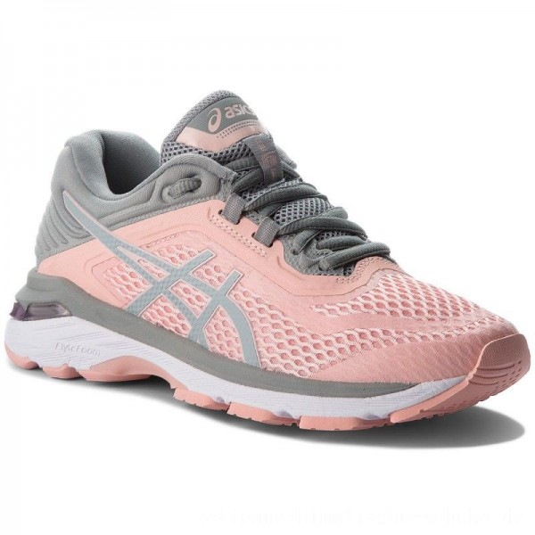 Asics Schuhe GT-2000 6 T855N Frosted Rose/Stone Grey 700 [Sale]