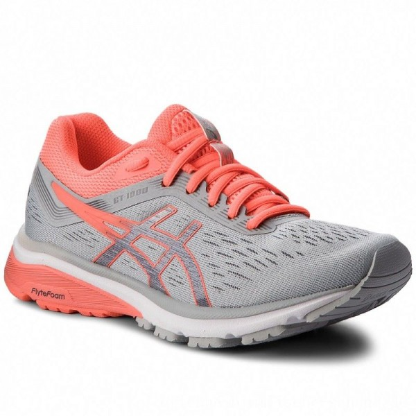 Asics Schuhe GT-1000 7 1012A030 Mid Grey/Flash Coral 021 [Sale]