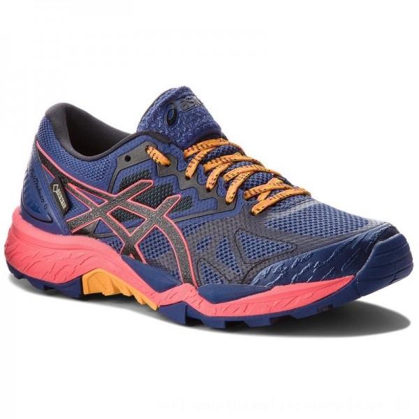 Asics Schuhe Gel-FujiTrabuco 6 G-TX GORE-TEX T7F5N Blue Print/Black 400 [Outlet]