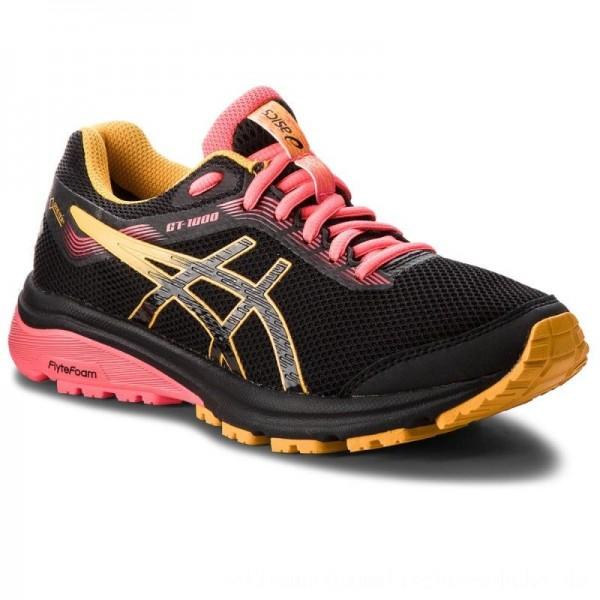 Asics Schuhe GT-1000 7 G-Tx GORE-TEX 1012A031 Black/Amber 001 [Sale]