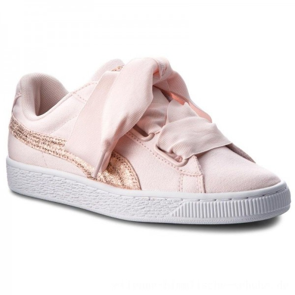 Puma Sneakers Basket Heart Canvas 366495 02 Pearl/Puma White/Rose Gold [Outlet]
