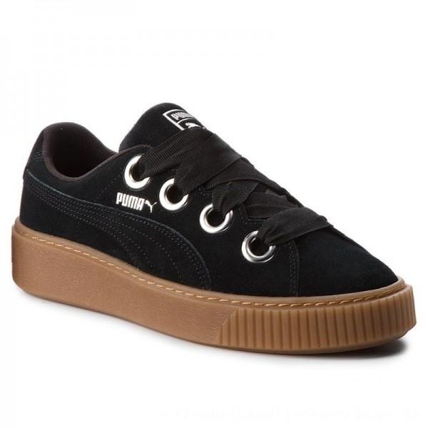 Puma Sneakers Platform Kiss Suede 366461 01 Black/Puma Silver [Sale]