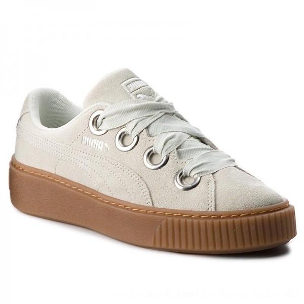 Puma Sneakers Platform Kiss Suede 366461 02 Blue Flower/Puma Silver [Outlet]