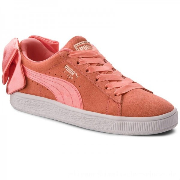 Puma Sneakers Suede Bow Jr 367316 01 Shell Pink/Shell Pink [Outlet]