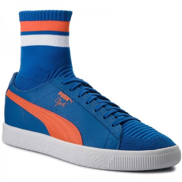 Puma Sneakers Clyde Sock NYC 364948 03 LBlue/Slbis/Puma White [Outlet]