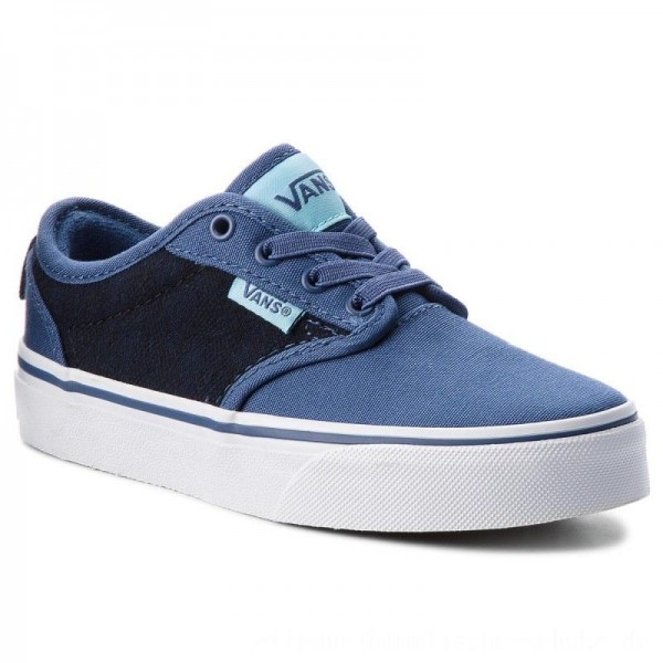 Vans Turnschuhe Atwood Slip-On VN0A38IXR7R (Checkered Textile) Navy [Outlet]