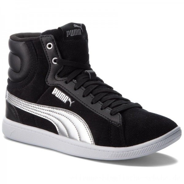 Puma Sneakers Vikky Mid Cord 366813 01 Black/Puma Silver [Outlet]
