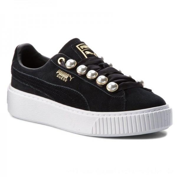 Puma Sneakers Suede Platform Bling Wn's 366688 01 Black/Puma Black [Outlet]