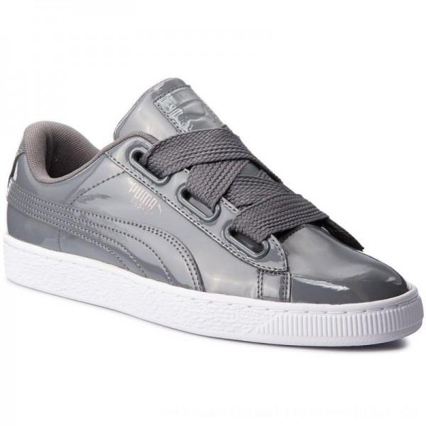 Puma Sneakers Basket Heart Patent Wn's 363073 17 Iron Gate/Iron Gate [Sale]