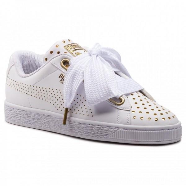 [BLACK FRIDAY] Puma Sneakers Basket Heart Ath Lux Wn's 366728 01 White/Puma White