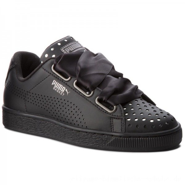 Puma Sneakers Basket Heart Ath Lux Wn's 366728 03 Black/Puma Black [Outlet]